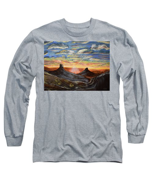 Monument Valley And Kokopelli Long Sleeve T-Shirt