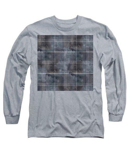 Moody Blue Plaid Long Sleeve T-Shirt