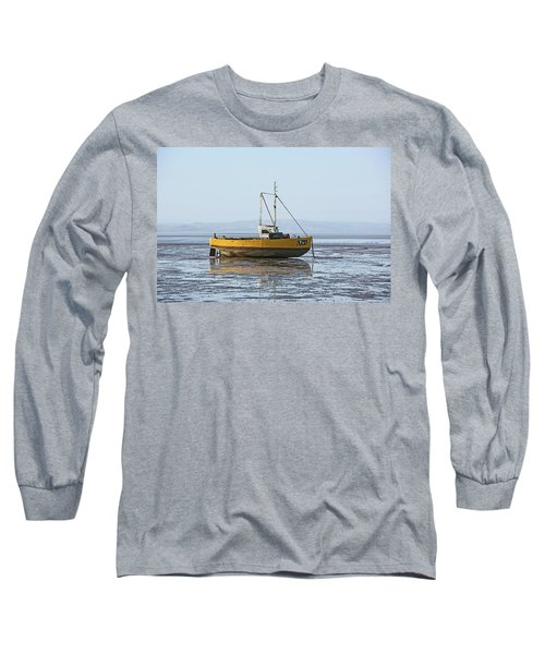 Morecambe. Yellow Fishing Boat. Long Sleeve T-Shirt