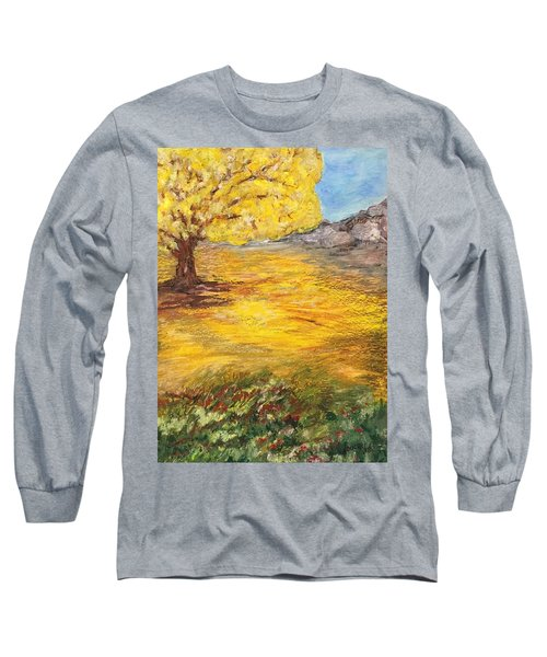 Long Sleeve T-Shirt featuring the painting Morning Glory by Norma Duch