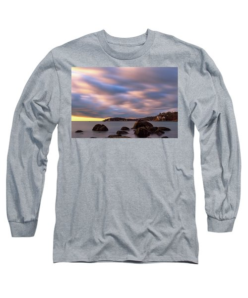 Long Sleeve T-Shirt featuring the photograph Morning Glow, Stage Fort Park. Gloucester Ma. by Michael Hubley