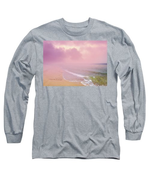Morning Hour By The Seashore In Dreamland Long Sleeve T-Shirt