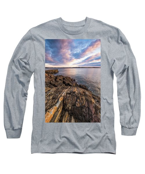 Morning Light Over The Piscataqua River. Long Sleeve T-Shirt