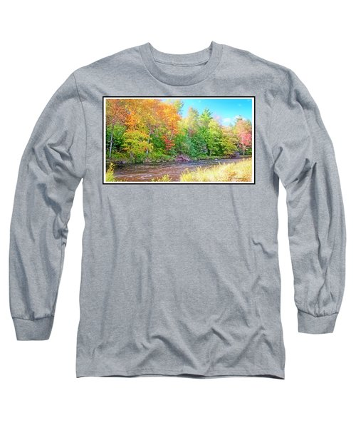Mountain Stream In Early Autumn Long Sleeve T-Shirt
