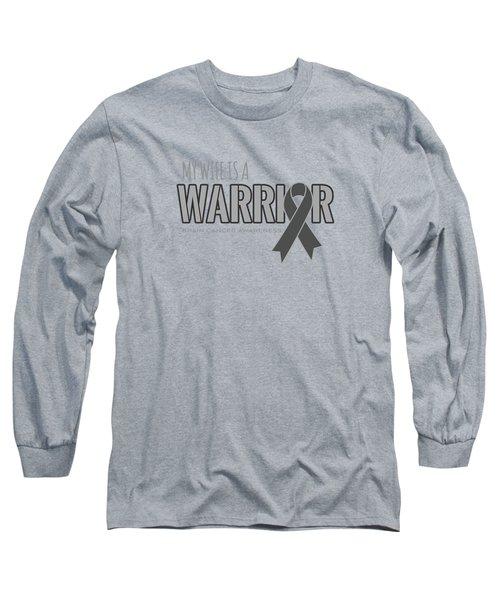 My Wife Is A Warrior - Brain Cancer Awareness Premium T-shirt Long Sleeve T-Shirt