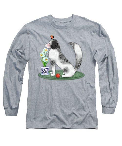 N Is For Newfoundland Dog Long Sleeve T-Shirt