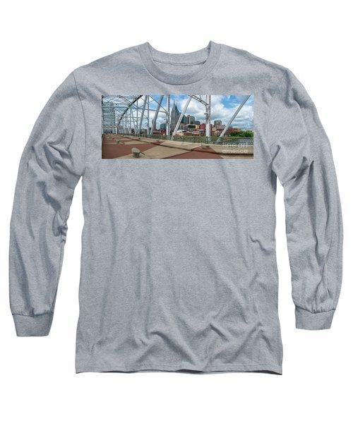 Nashville Cityscape From The Bridge Long Sleeve T-Shirt
