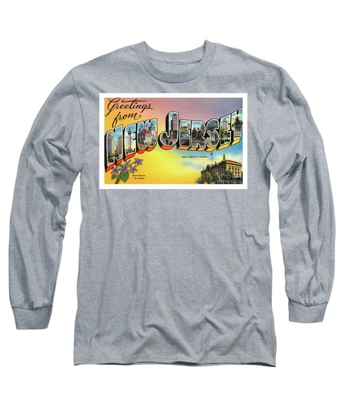 New Jersey Greetings - Version 2 Long Sleeve T-Shirt