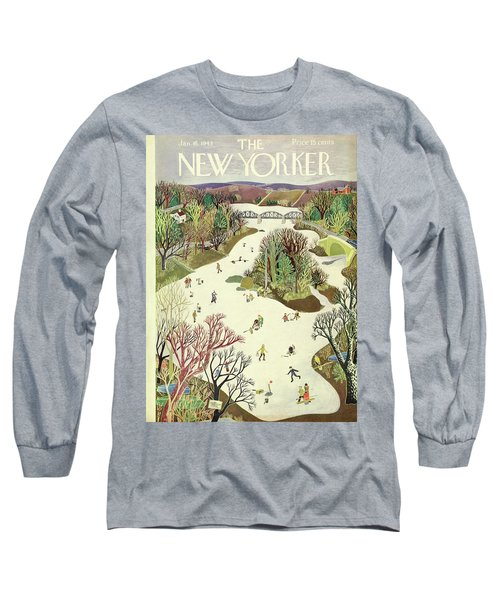 New Yorker January 16th 1943 Long Sleeve T-Shirt