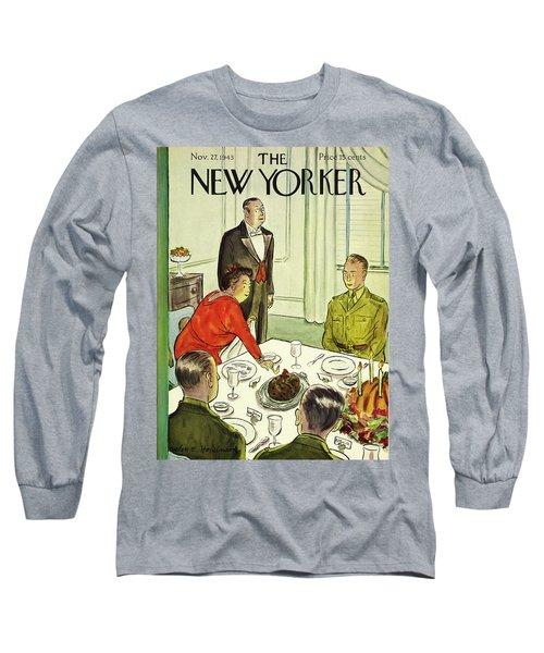 New Yorker November 27th 1943 Long Sleeve T-Shirt