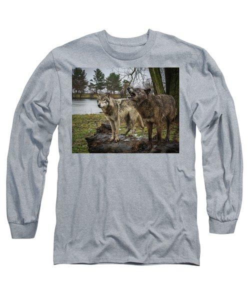 Noisy Wolf Long Sleeve T-Shirt