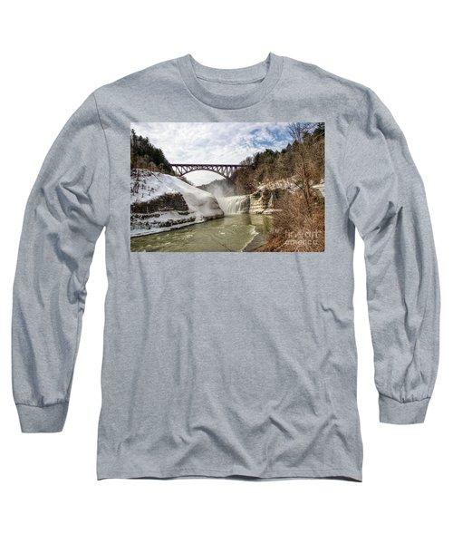 Winter At Letchworth State Park Long Sleeve T-Shirt