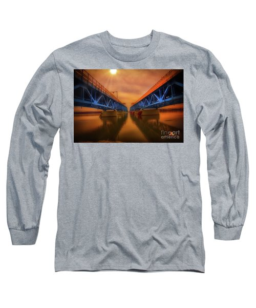 North Grand Island Bridge Long Sleeve T-Shirt