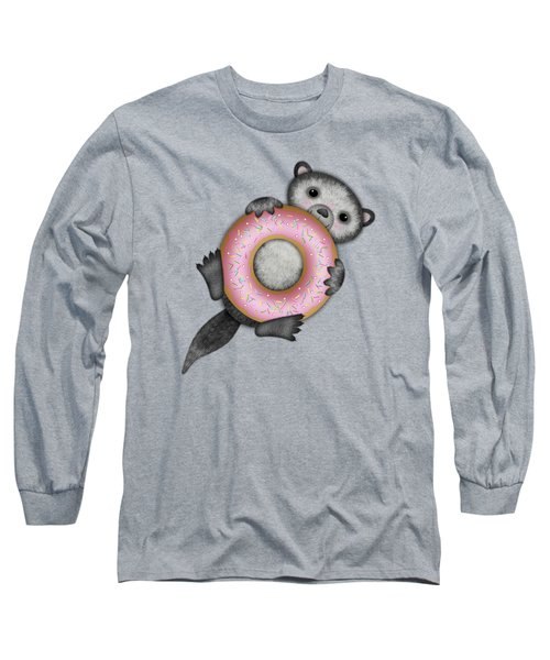 O Is For Otter With An O So Delicious Doughnut Long Sleeve T-Shirt