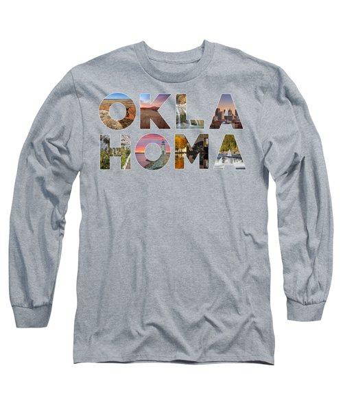 Oklahoma Typography II Long Sleeve T-Shirt