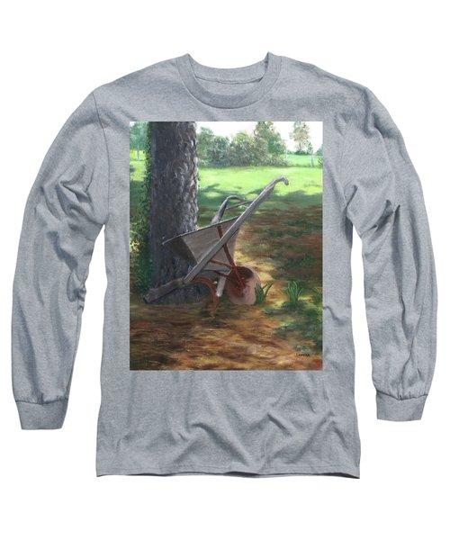 Old Farm Seeder, Louisiana Long Sleeve T-Shirt