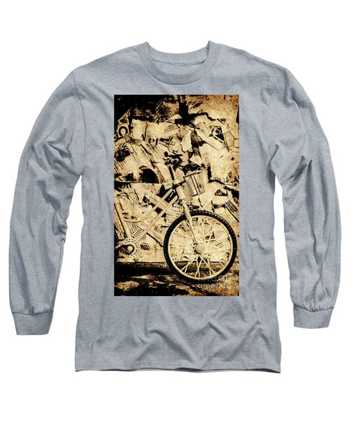 Old Newsprint Delivery Long Sleeve T-Shirt