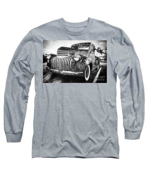 Old Truck  - Painterly Long Sleeve T-Shirt