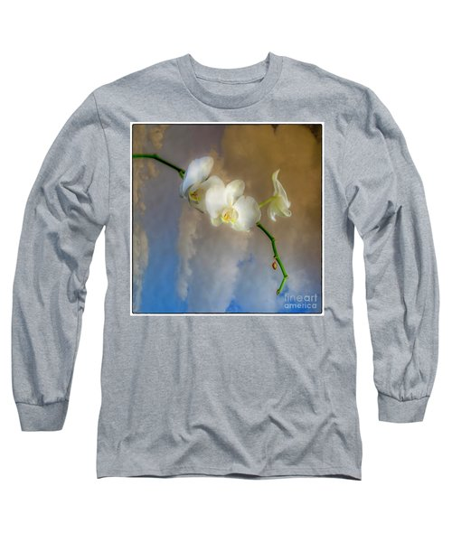 Orchid With Clouds Long Sleeve T-Shirt
