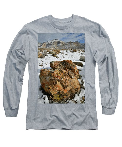 Ornate Colorful Boulders In The Book Cliffs Long Sleeve T-Shirt