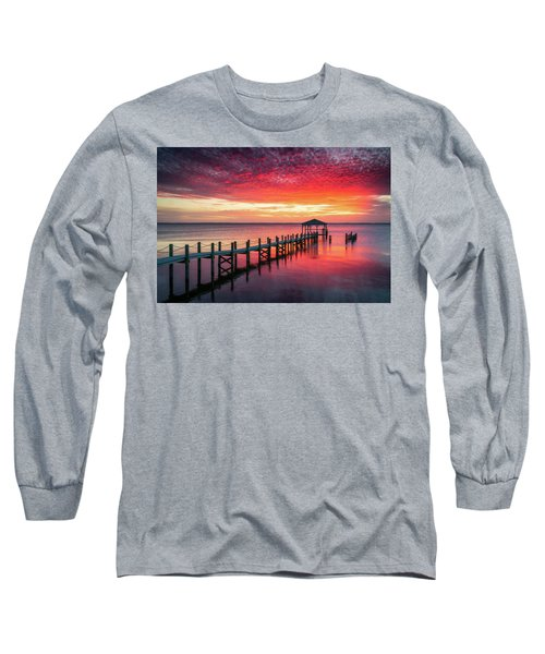 Outer Banks North Carolina Sunset Seascape Photography Duck Nc Long Sleeve T-Shirt