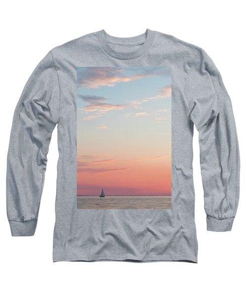 Outer Banks Sailboat Sunset Long Sleeve T-Shirt