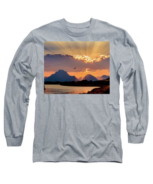 Long Sleeve T-Shirt featuring the photograph Oxbow Sunset by Mary Hone