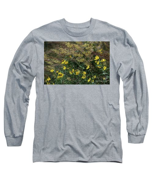 Painted Fall Flowers Long Sleeve T-Shirt