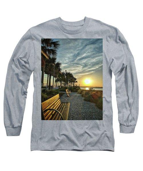 Palm Tree Sunset Long Sleeve T-Shirt