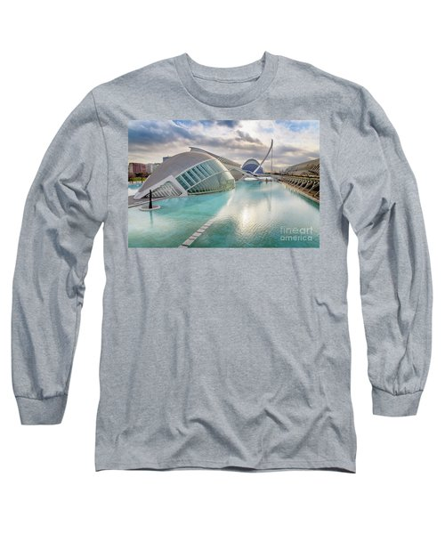 Panoramic Cinema In The City Of Sciences Of Valencia, Spain, Vis Long Sleeve T-Shirt