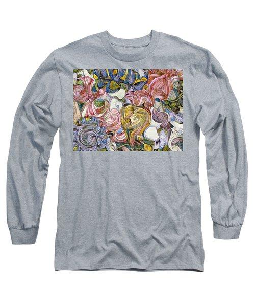 Pastel Mosaic Long Sleeve T-Shirt