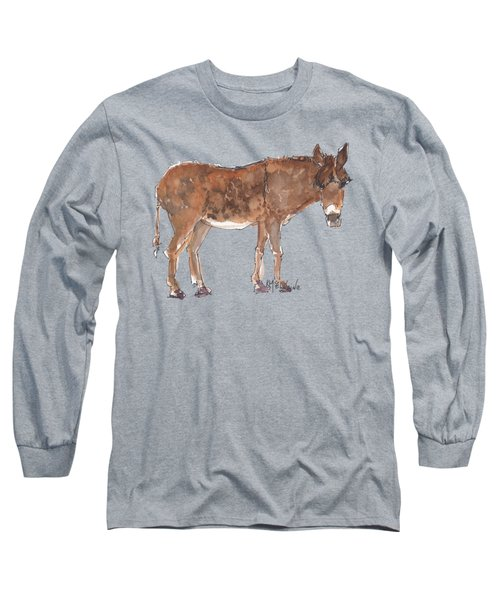 Pasture Boss 2015 Watercolor Painting By Kmcelwaine Long Sleeve T-Shirt