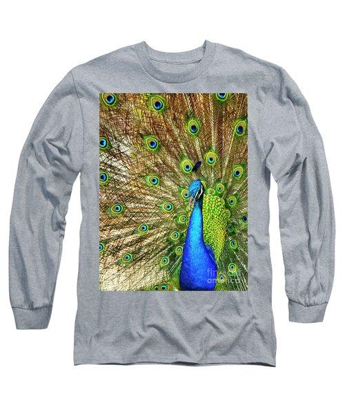 Peacock Colors Long Sleeve T-Shirt