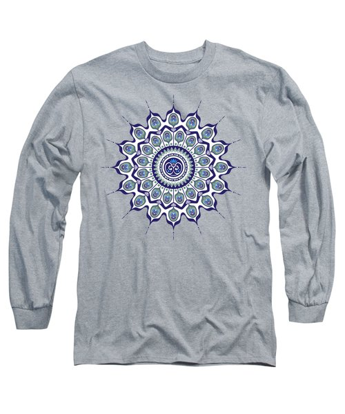 Peacock Feathers Mandala Long Sleeve T-Shirt