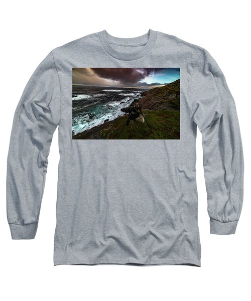 Photo Gear On Landscape Shot Long Sleeve T-Shirt