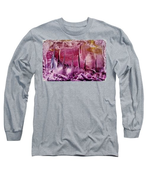 Pink Abstract Castles Long Sleeve T-Shirt