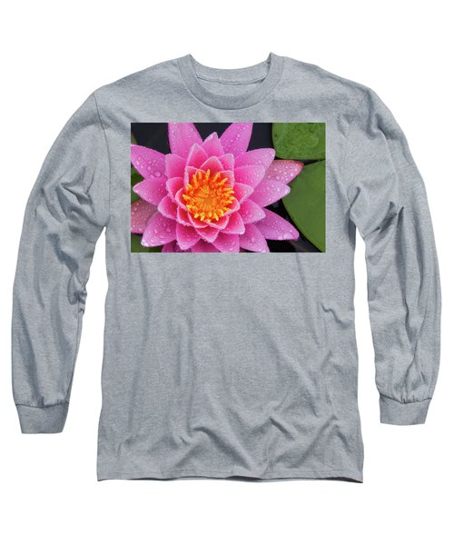 Pink Petals In The Rain  Long Sleeve T-Shirt