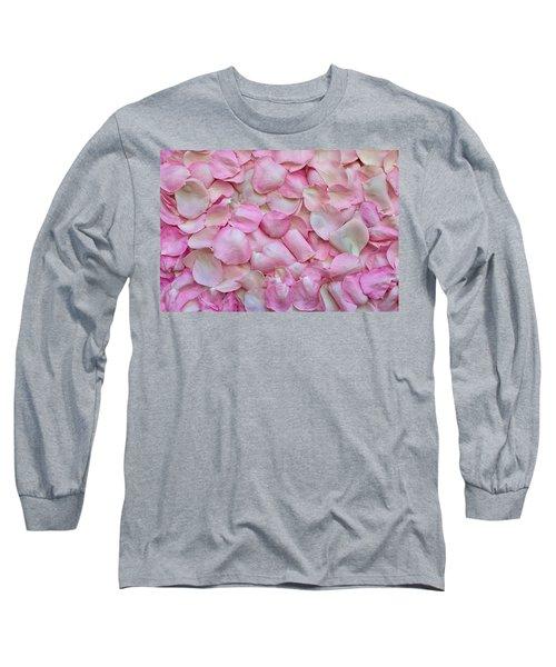 Pink Rose Petals Long Sleeve T-Shirt