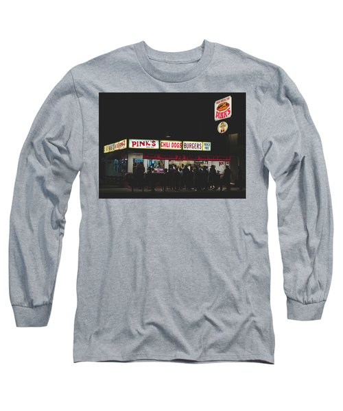 Pink's Hot Dogs Of Hollywood Long Sleeve T-Shirt