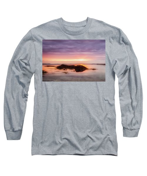 Long Sleeve T-Shirt featuring the photograph Plum Cove Glow, Gloucester Ma. by Michael Hubley