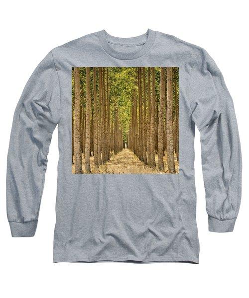 Poplars In Boardman Long Sleeve T-Shirt