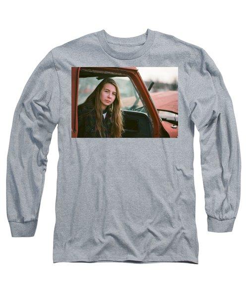 Portrait In A Truck Long Sleeve T-Shirt