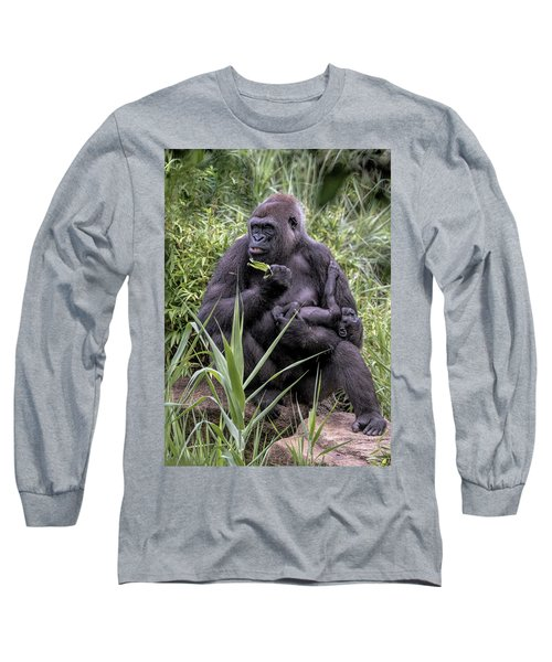 Proud Mama Silverback 6243 Long Sleeve T-Shirt