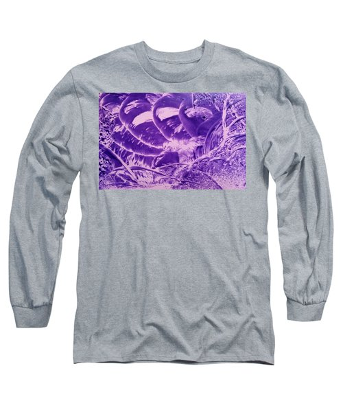 Purple Abstract, Octopus Long Sleeve T-Shirt