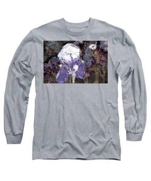 Purple Bearded Iris Long Sleeve T-Shirt