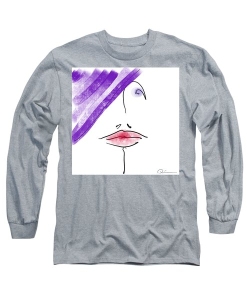 Purple Hat Long Sleeve T-Shirt