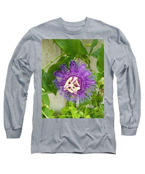Purple Passionflower Long Sleeve T-Shirt