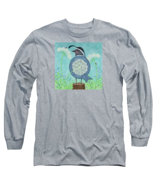 Q Is For Quail And Queen Anne's Lace Long Sleeve T-Shirt