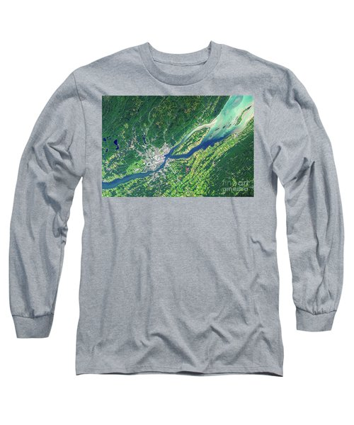 Quebec City From Space Long Sleeve T-Shirt