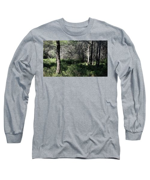 Long Sleeve T-Shirt featuring the photograph Quiet Light In The Forest by August Timmermans